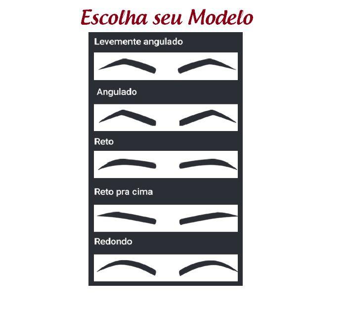 Carimbo de Sobrancelha - Modelo Redondo