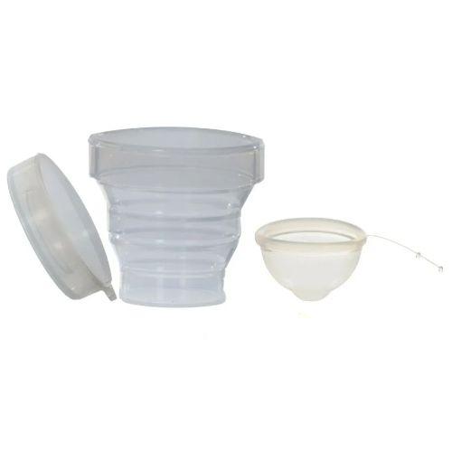 Kit Disco Menstrual Unique + Copo Esterilizador + Saquinho de tecido