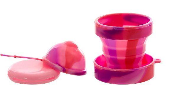 Kit Disco Menstrual Unique P 30ml + Copo Esterilizador Pink Love + Porta Coletor