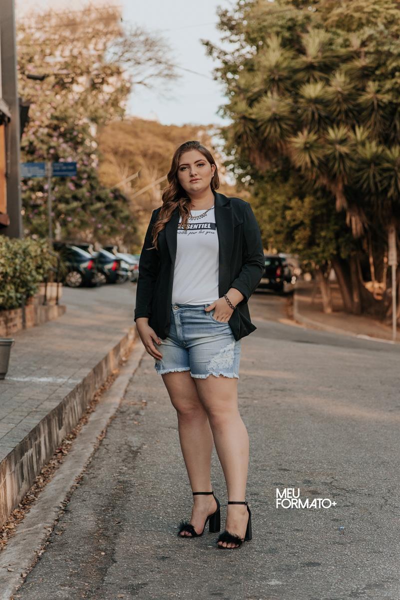 Bermuda jeans Plus Size Destroyd