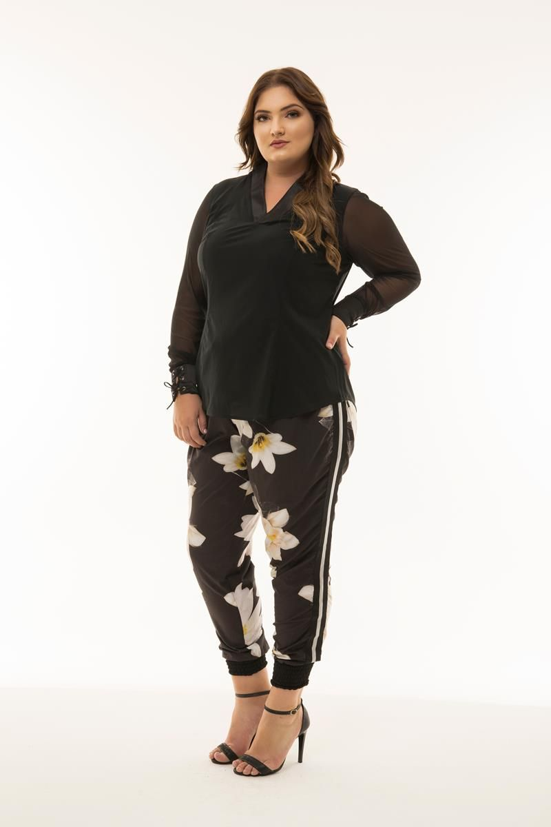 Blusa Plus Size Bianca - Coleção Herchcovitch