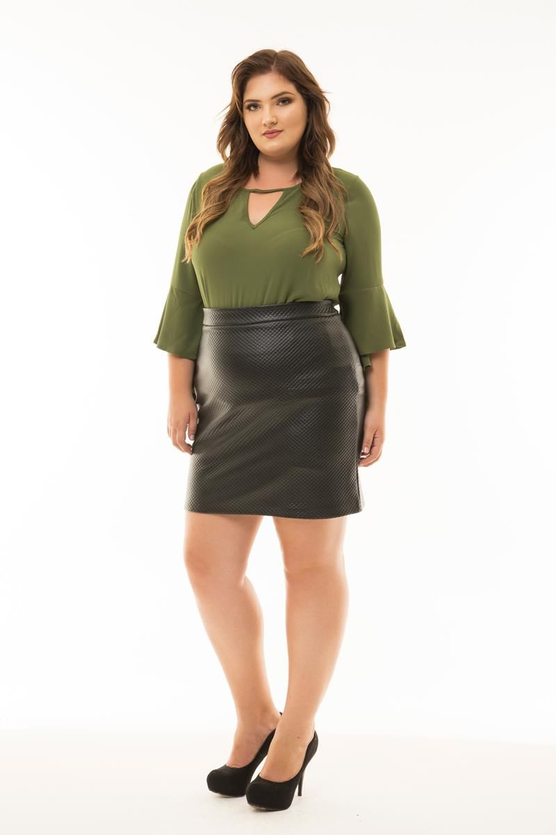Blusa Plus Size  bubble flare