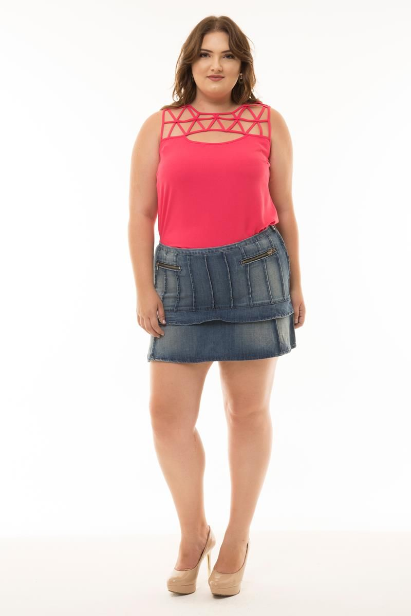 Blusa Plus Size Julia tiras