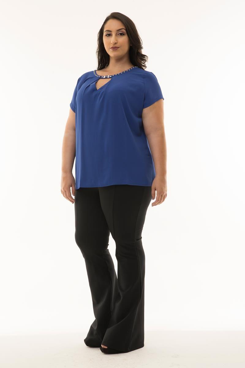 Blusa Plus Size Marina azul