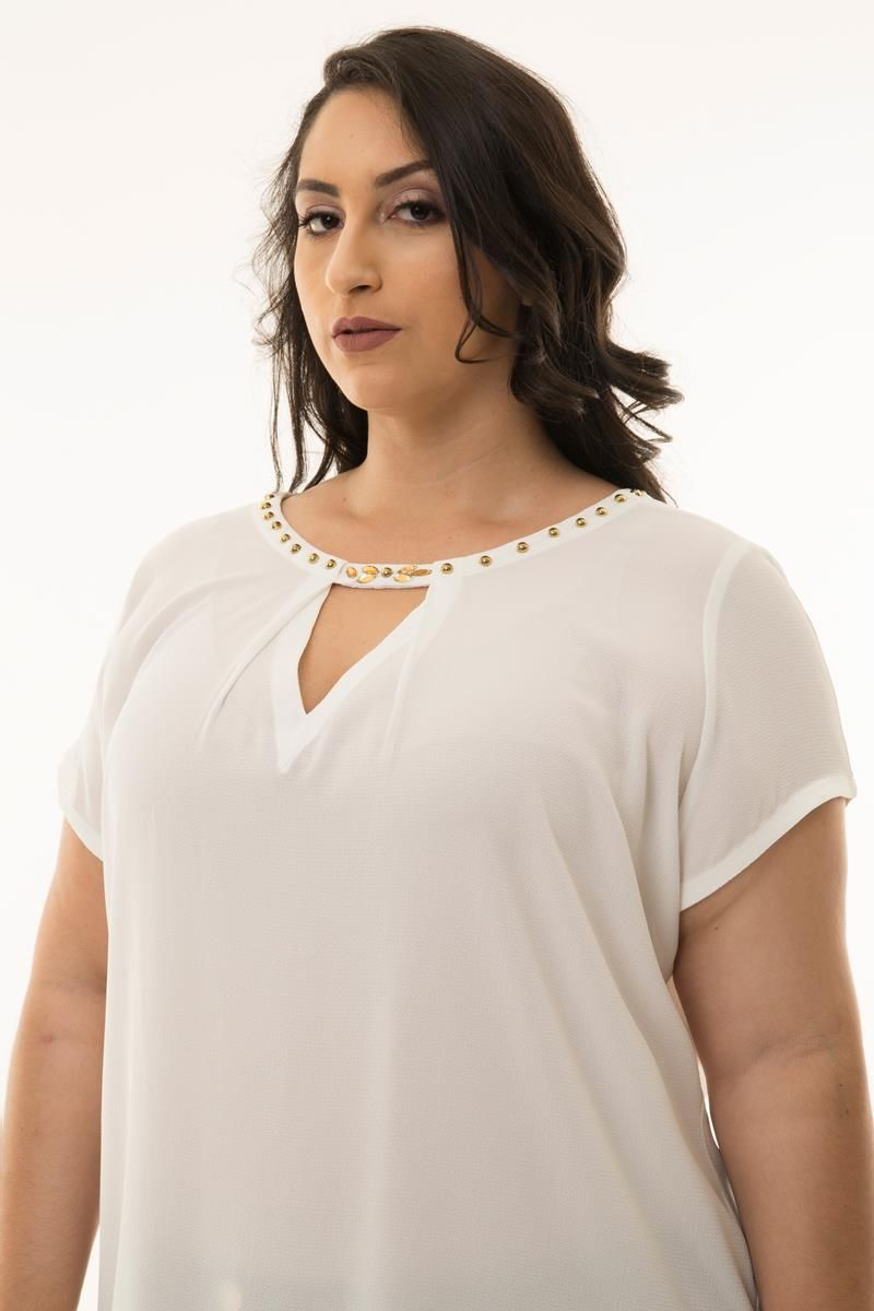 Blusa Plus Size Marina off