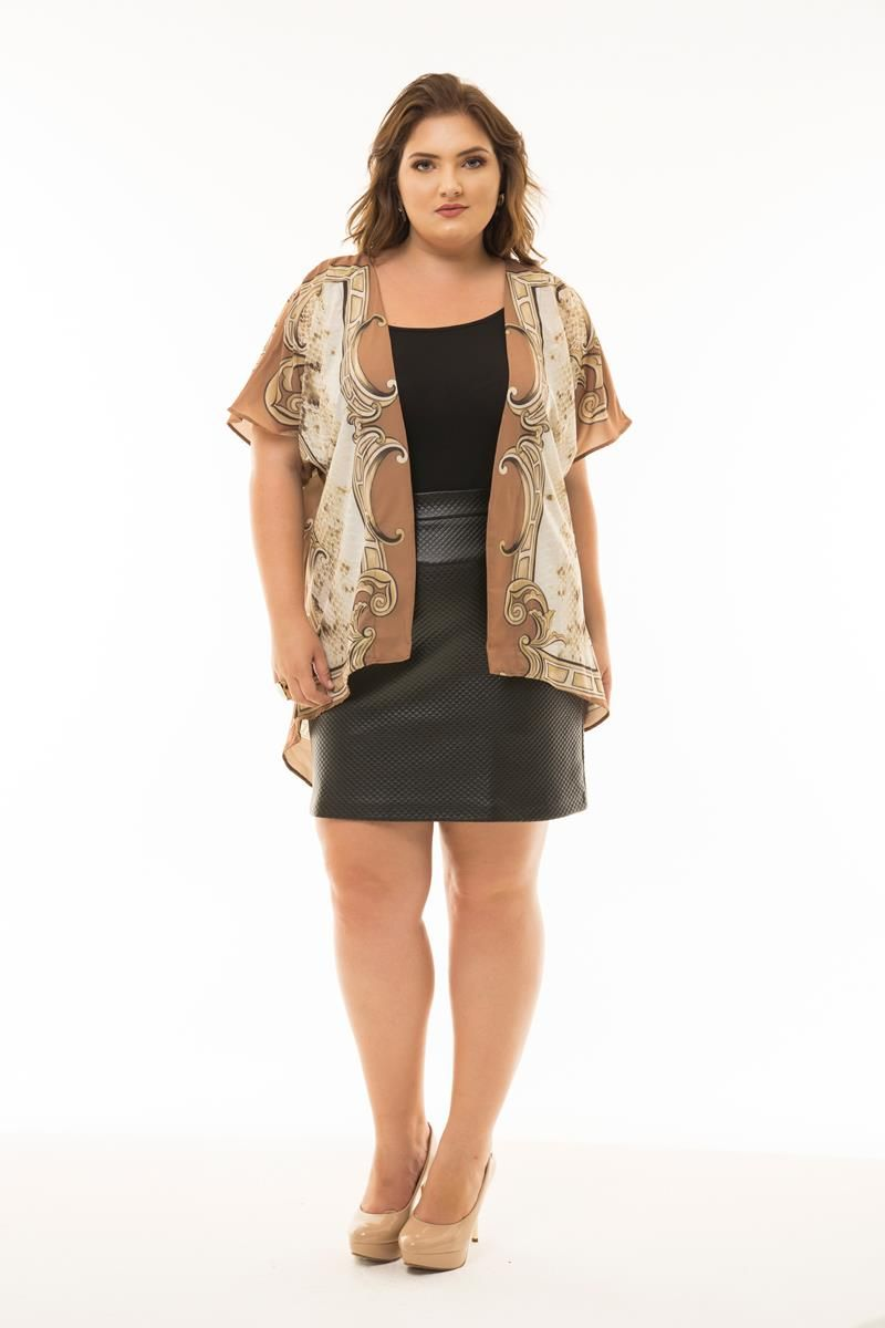 Kaftan Plus Size sublimado