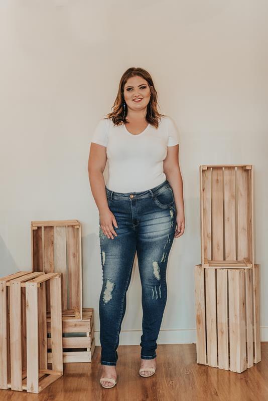 CALÇA PLUS SIZE jeans SKINNY