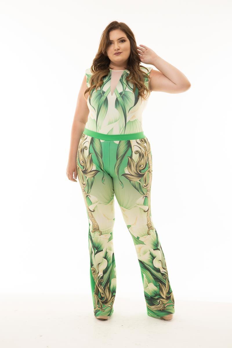 Calça Plus Size Jade verde