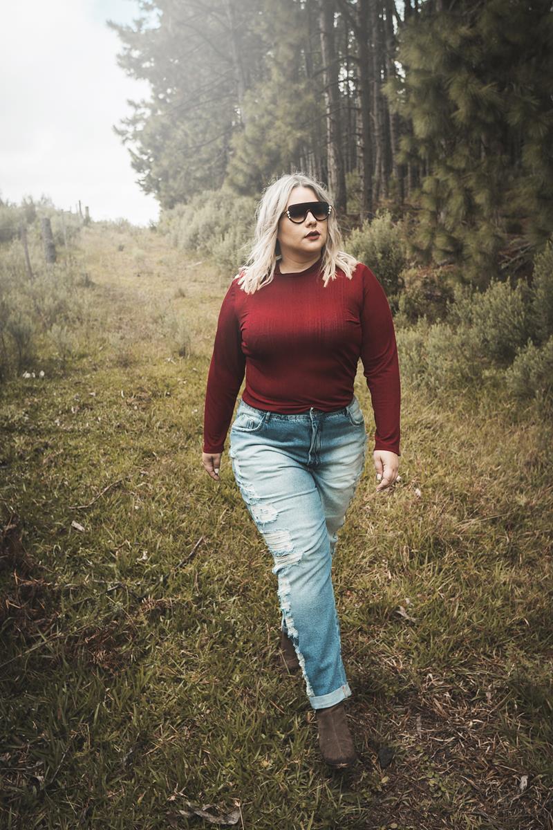 Calça Plus Size jeans boyfriend
