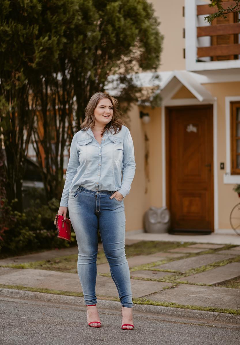 CALÇA PLUS SIZE jeans CIGARRETE