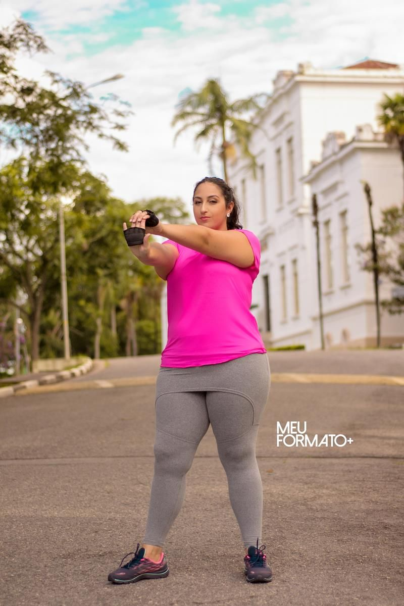 Camiseta Plus Size pink