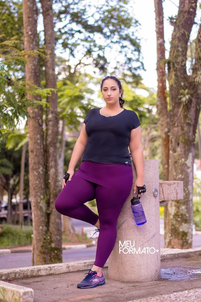 Legging Plus Size saia beringela