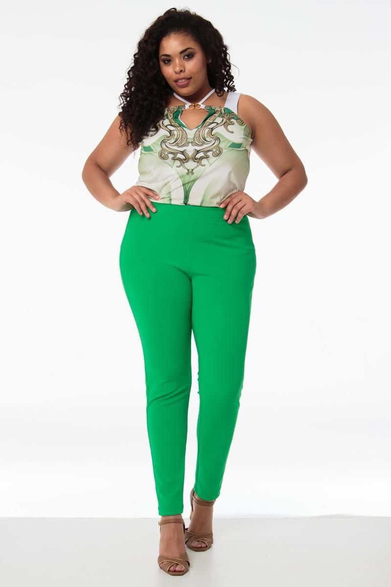 Legging Plus Size verde