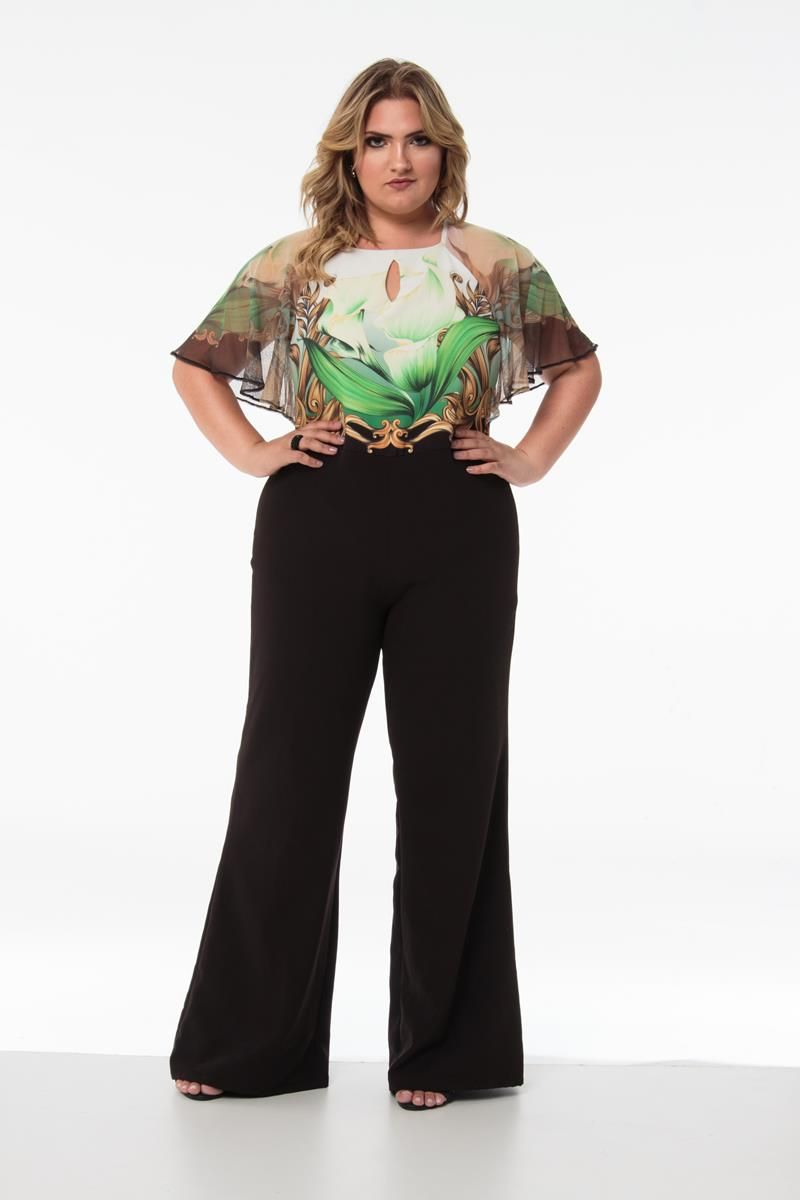 Macacão Plus Size Barbara verde