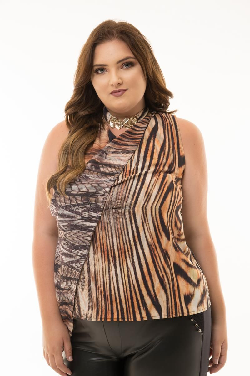 Regata Plus Size Tiger