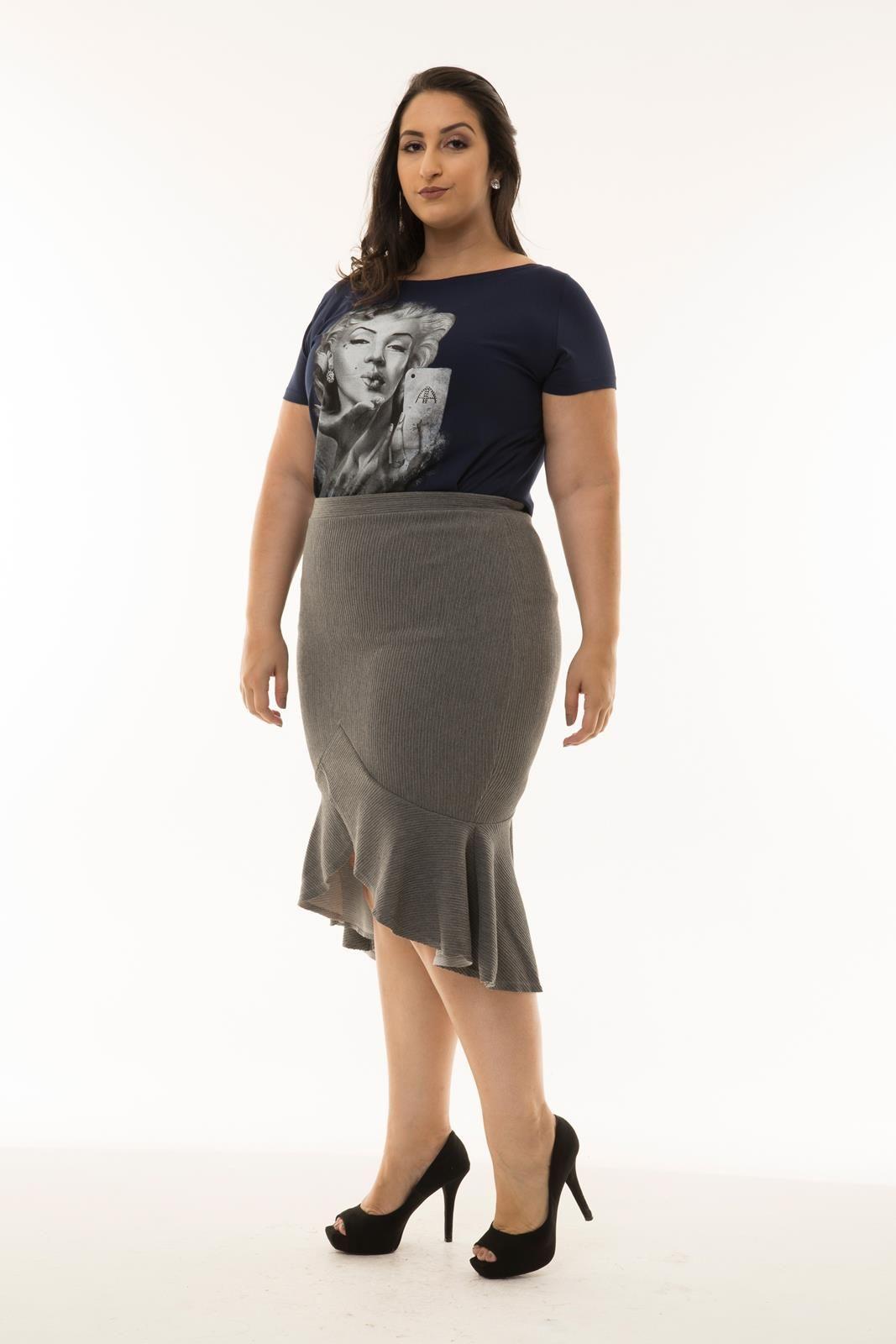 c666b971a Saia Plus Size canelada - Meu Formato – Moda Feminina Plus Size é Aqui!