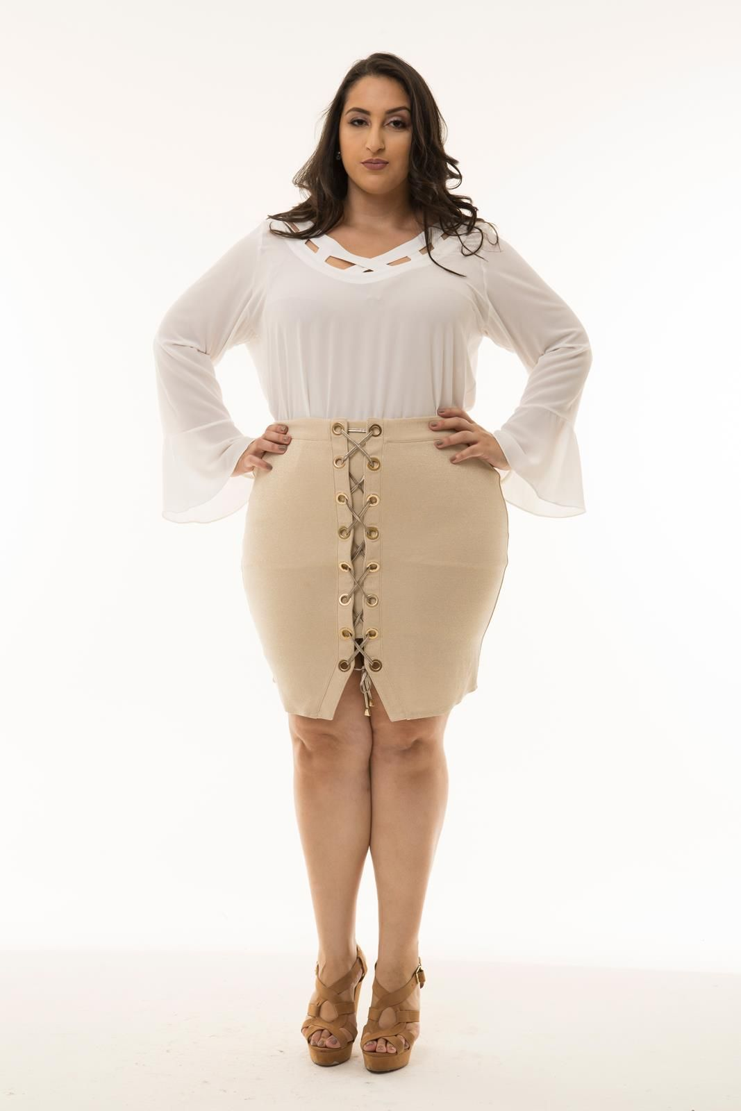 Saia Plus Size lurex