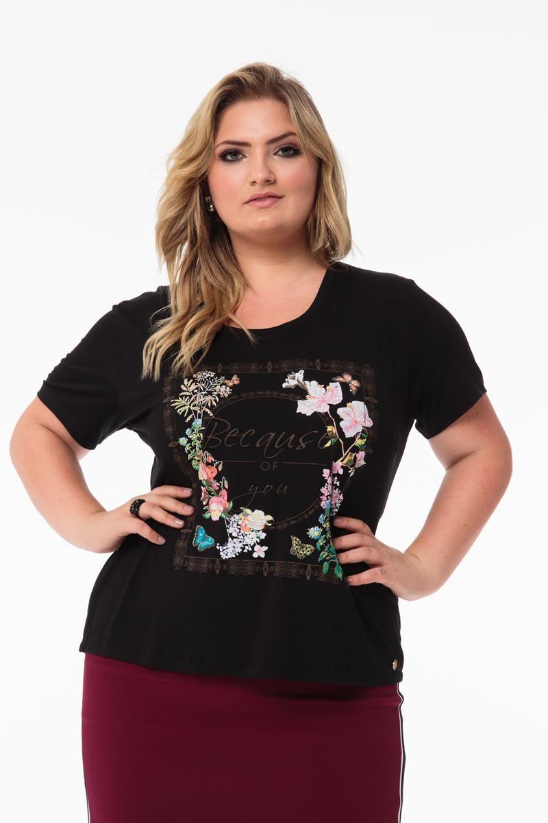 T shirt Plus Size Manoela