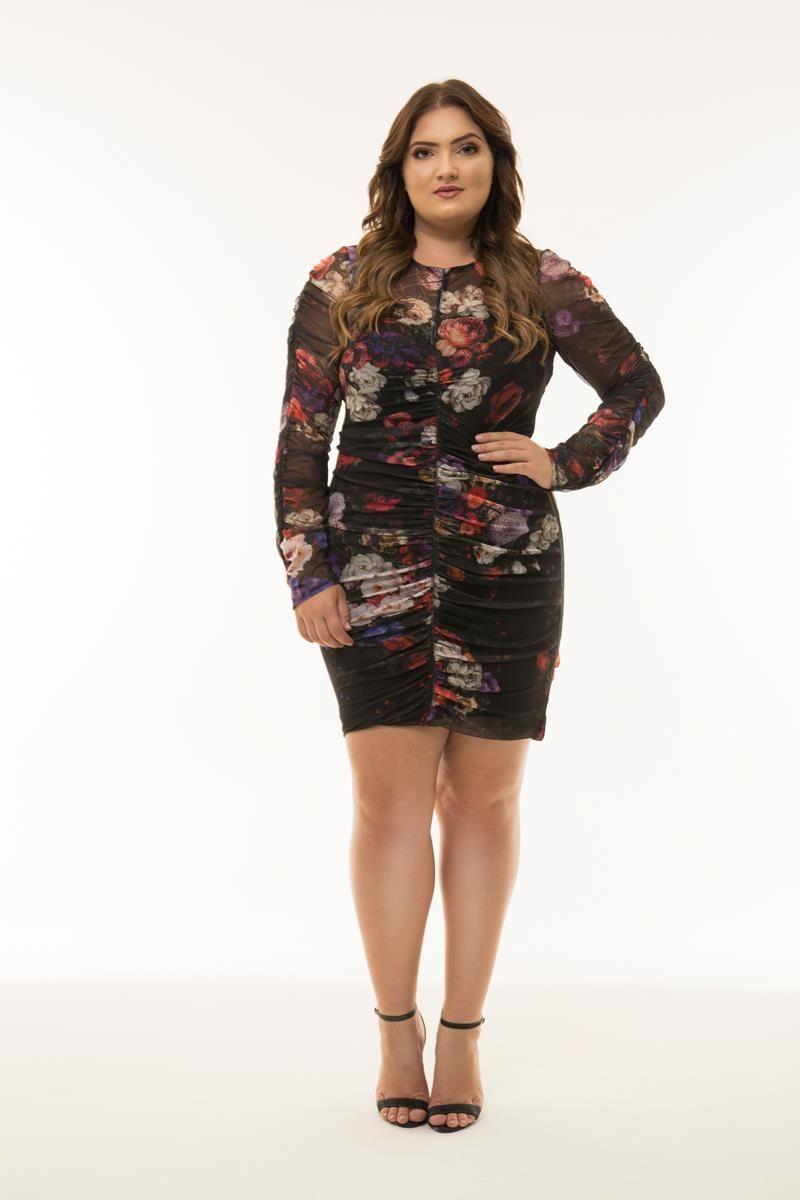 Vestido Plus Size Debora - Coleção Herchcovitch