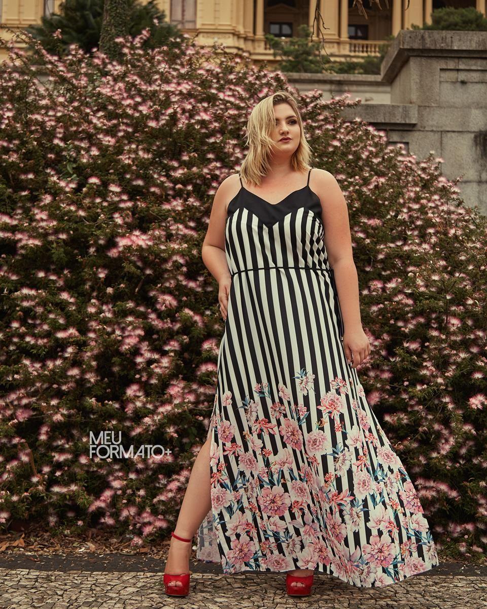 Vestido Plus Size floral Julie