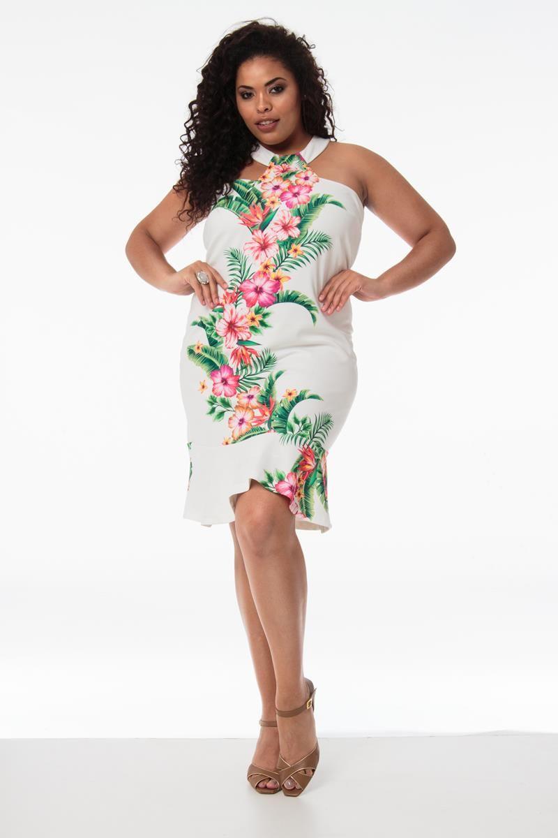Vestido Plus Size floral Marie