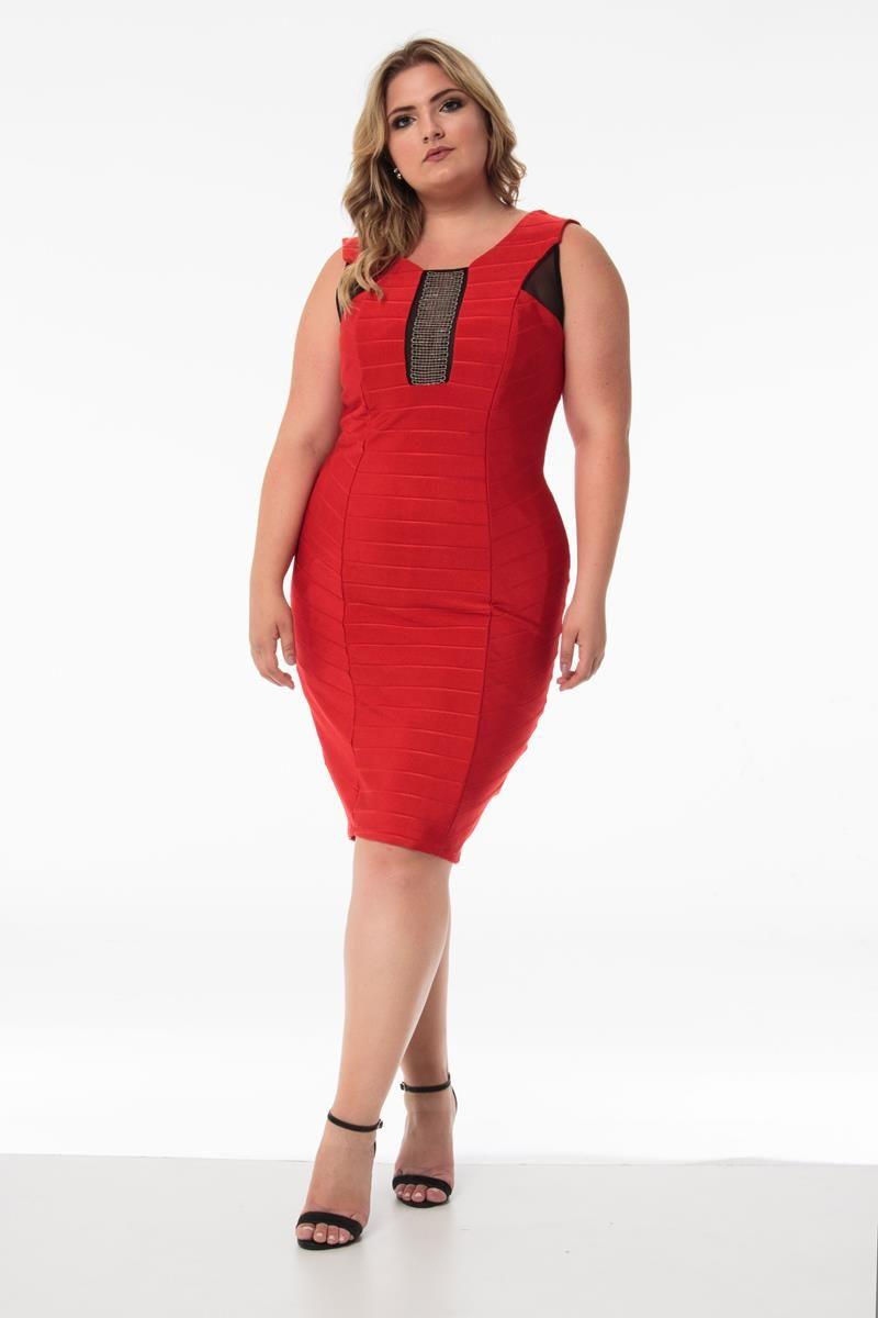 Vestido Plus Size Luara vermelho