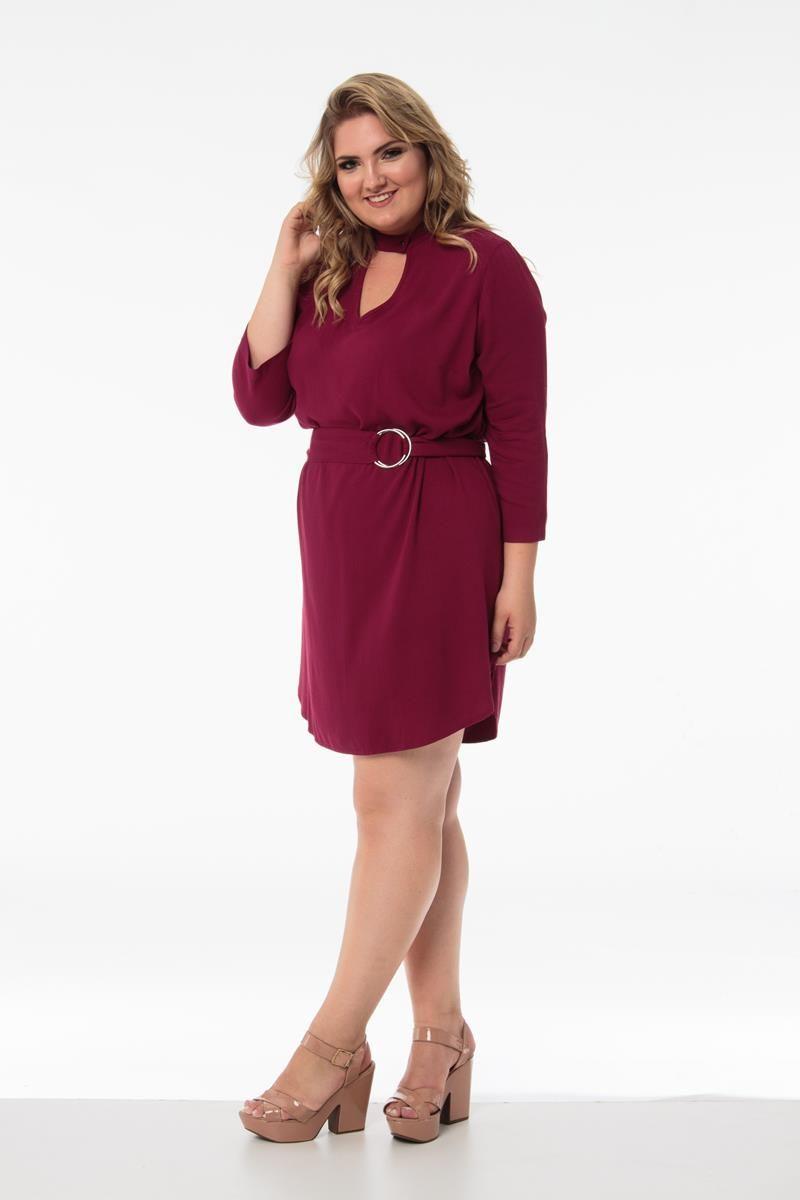 Vestido Plus Size Lucy Marssala