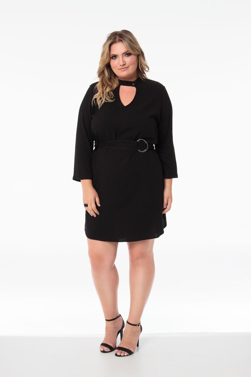Vestido Plus Size Lucy preto