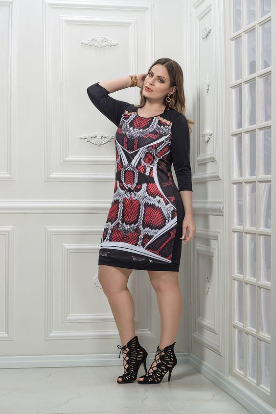 vestido plus size curto sublimado