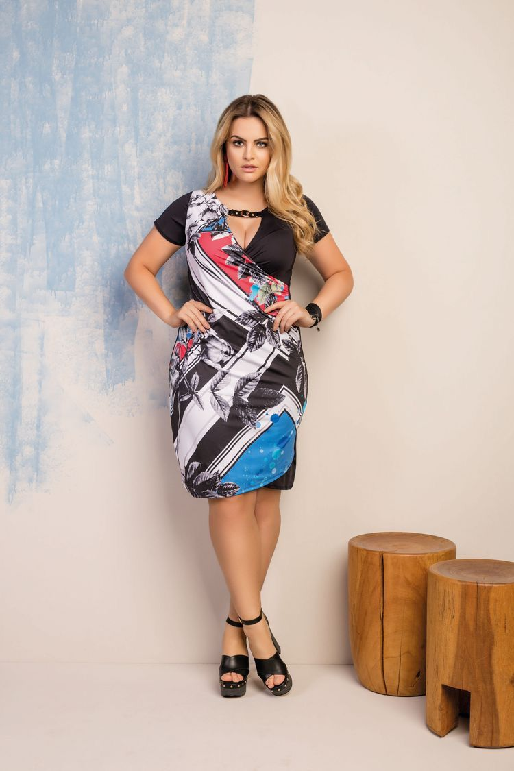 Vestido Plus Size Gabriele