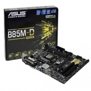 Placa Mãe 1150 Intel Asus B85M-D PLUS DDR3 90MB0JE0-M0EAY0