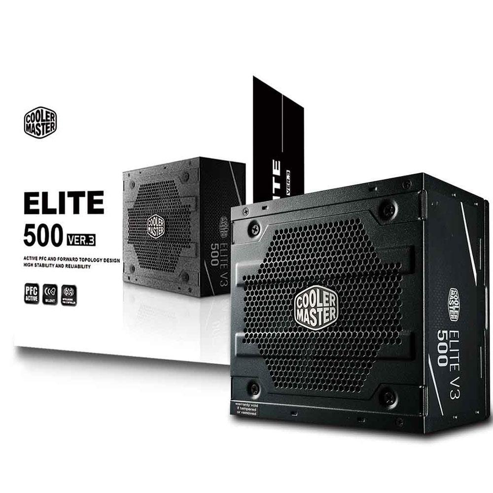 FONTE ATX 500W ELITE V3 MPW-5001-ACAAN1-WO COOLER MASTER