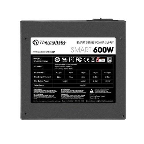 Fonte Thermaltake 600W 80 Plus Smart Series PS-SPD-0600NPCWBZ-W