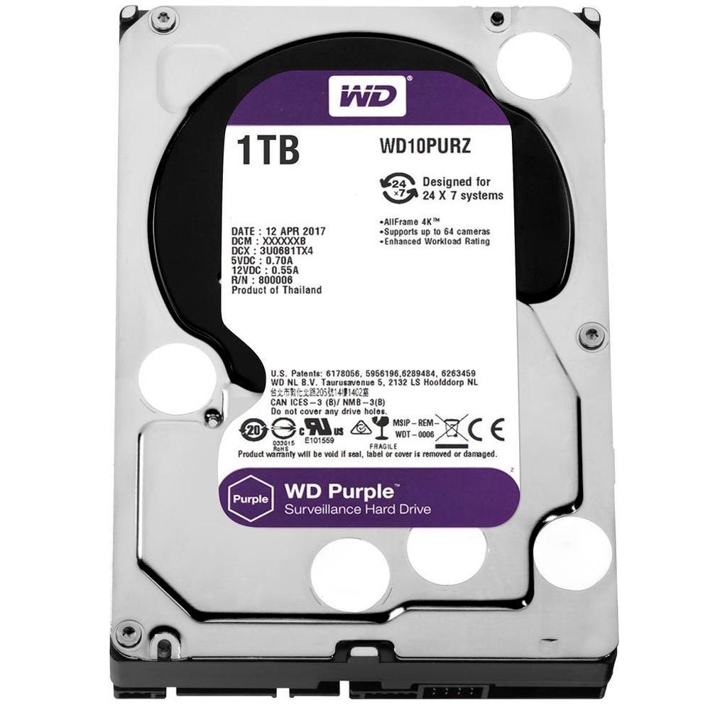HD 3.5 SATA3 1TB WD PURPLE SURVEILLANCE WD10PURZ WESTERN DIGITAL