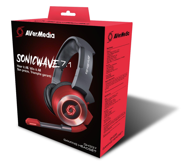 Headset Gamer AverMedia SonicWave 7.1 USB GH337