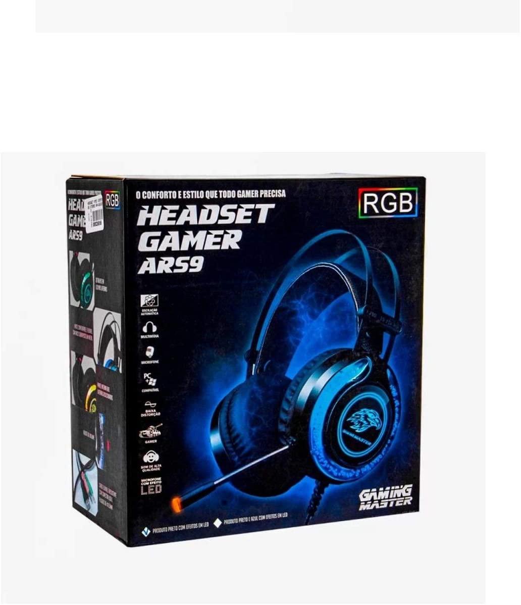Headset Gamer K-Mex ARS930 RGB Azl