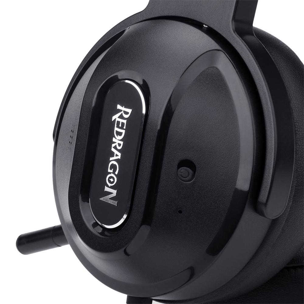 Headset Gamer Redragon H990 Ladon 7.1, USB, Preto
