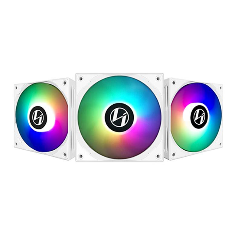 KIT FAN 120MM 3UND ST120 RGB BCO ST120-3W LIAN LI