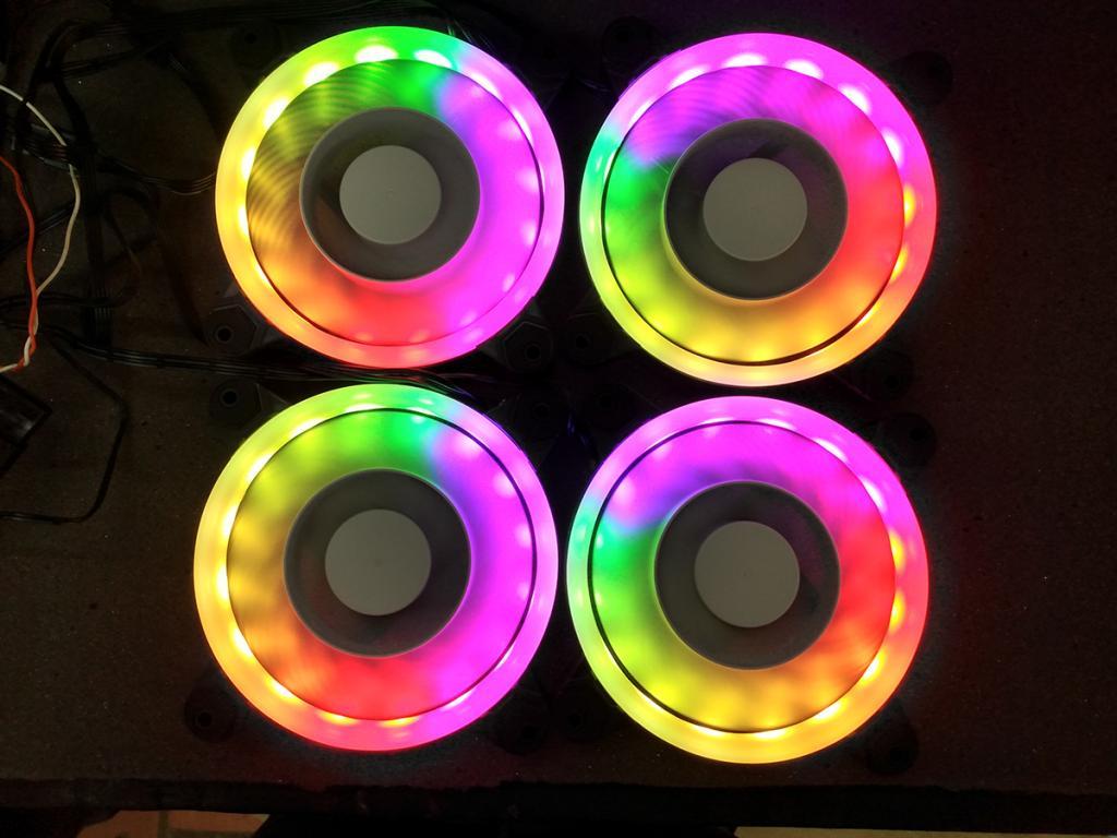 KIT FAN 120MM 4UND SPECTRUM ARGB EW126103V PIXXO