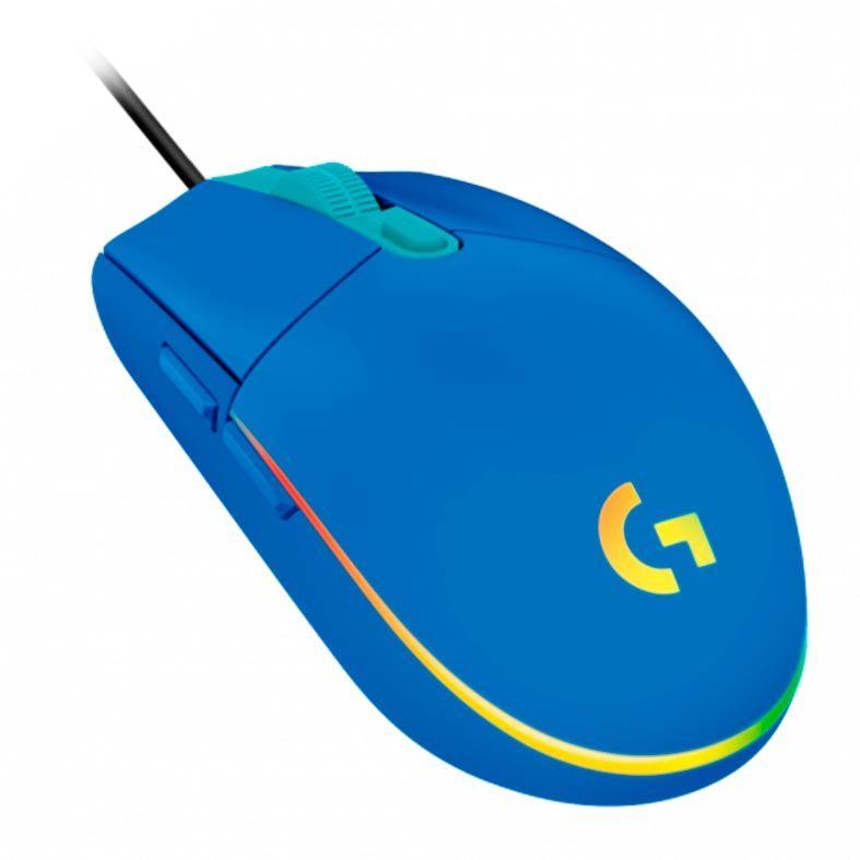 MOUSE GAMER G203 LIGHTSYNC RGB 8K DPI AZL 910-005795 LOGITECH