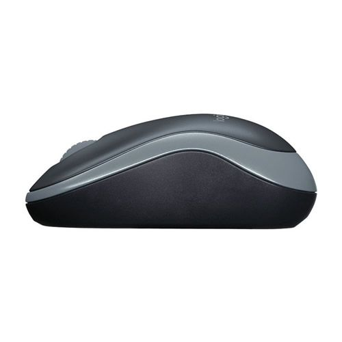 Mouse Óptico Logitech M185 Wireless Cinza 910-002225