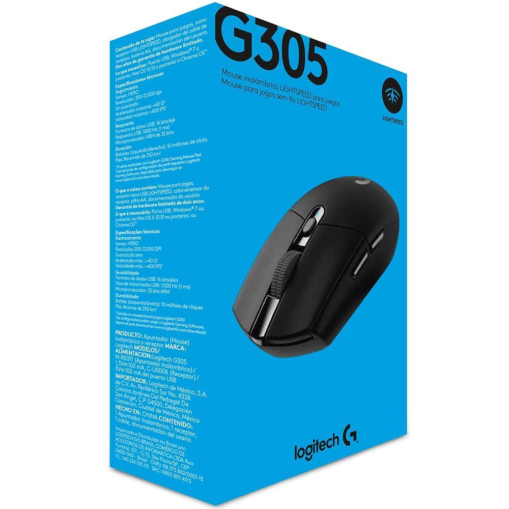 Mouse Sem Fio Gamer Logitech G305 Lightspeed 12000DPI