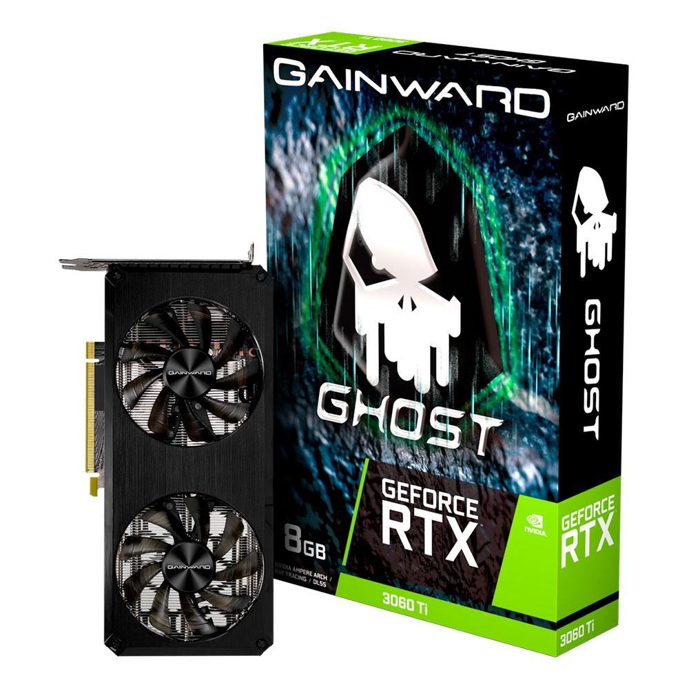 Placa de Video Gainward NVIDIA RTX 3060TI Ghost 8GB NE6306T019P2-190AB