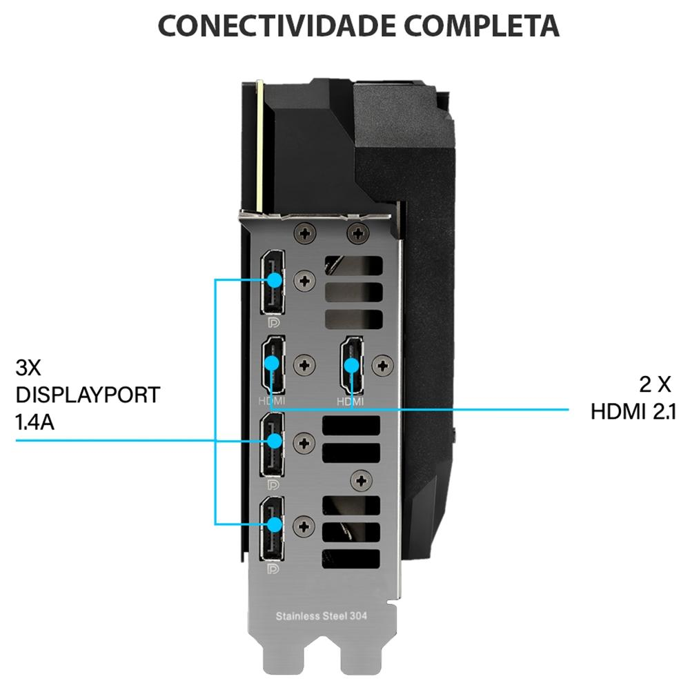 PLACA DE VIDEO NVIDIA RTX 3070 ROG STRIX GAMING 8GB GDDR6 ROG-STRIX-RTX3070-O8G-GAMING ASUS