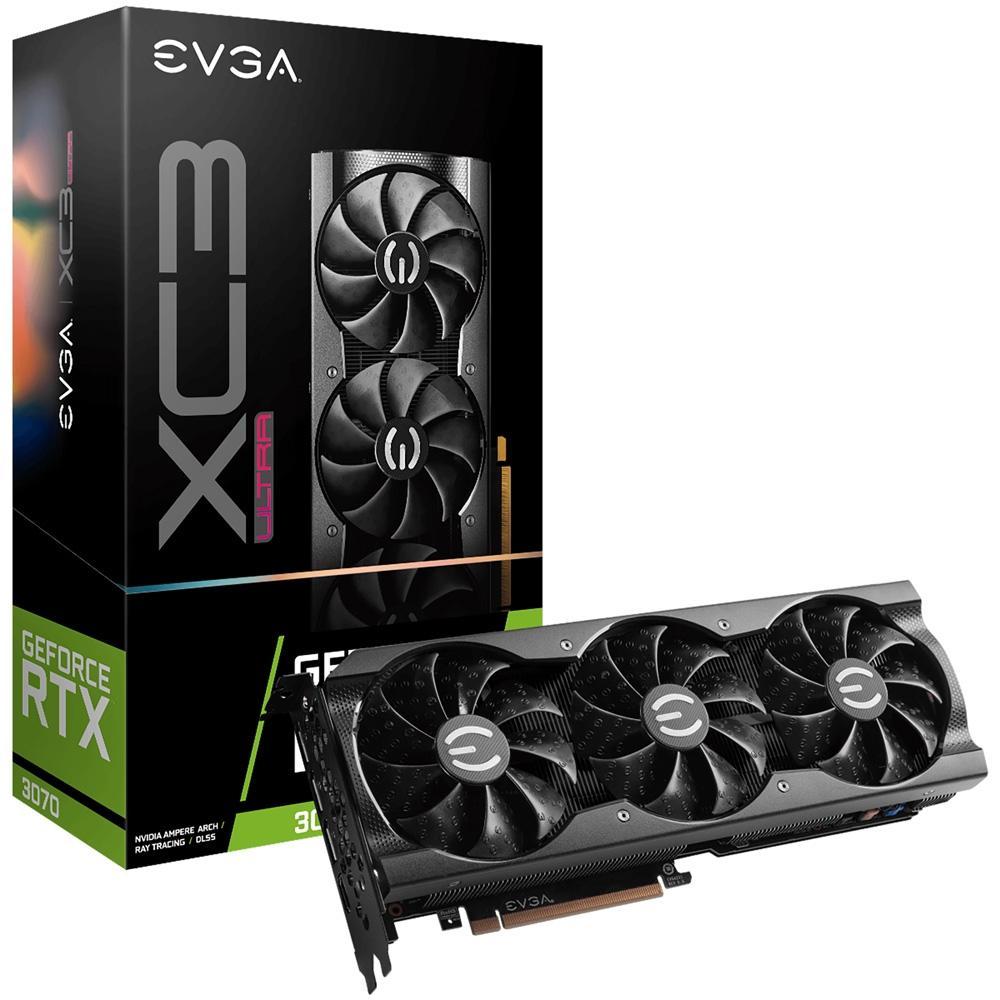 PLACA DE VIDEO NVIDIA RTX 3070 XC3 ULTRA GAMING 8GB GDDR6 08G-P5-3755-KR EVGA