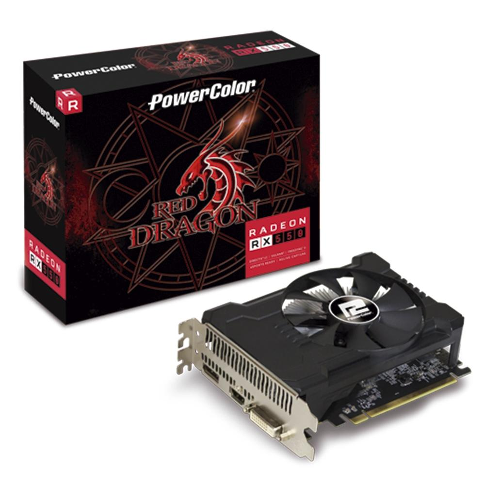 Placa de Vídeo PowerColor RX 550 2GB GDDR5 Red Dragon AXRX 550 4GBD5-DH