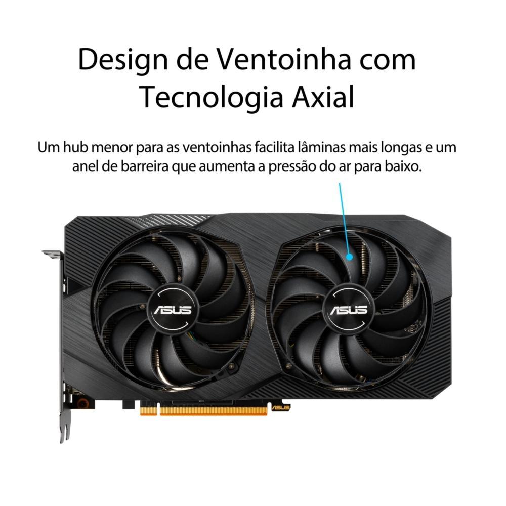 PLACA DE VIDEO RADEON RX 5500 XT 4GB GDDR6 DUAL-RX5500XT-O4G-EVO ASUS