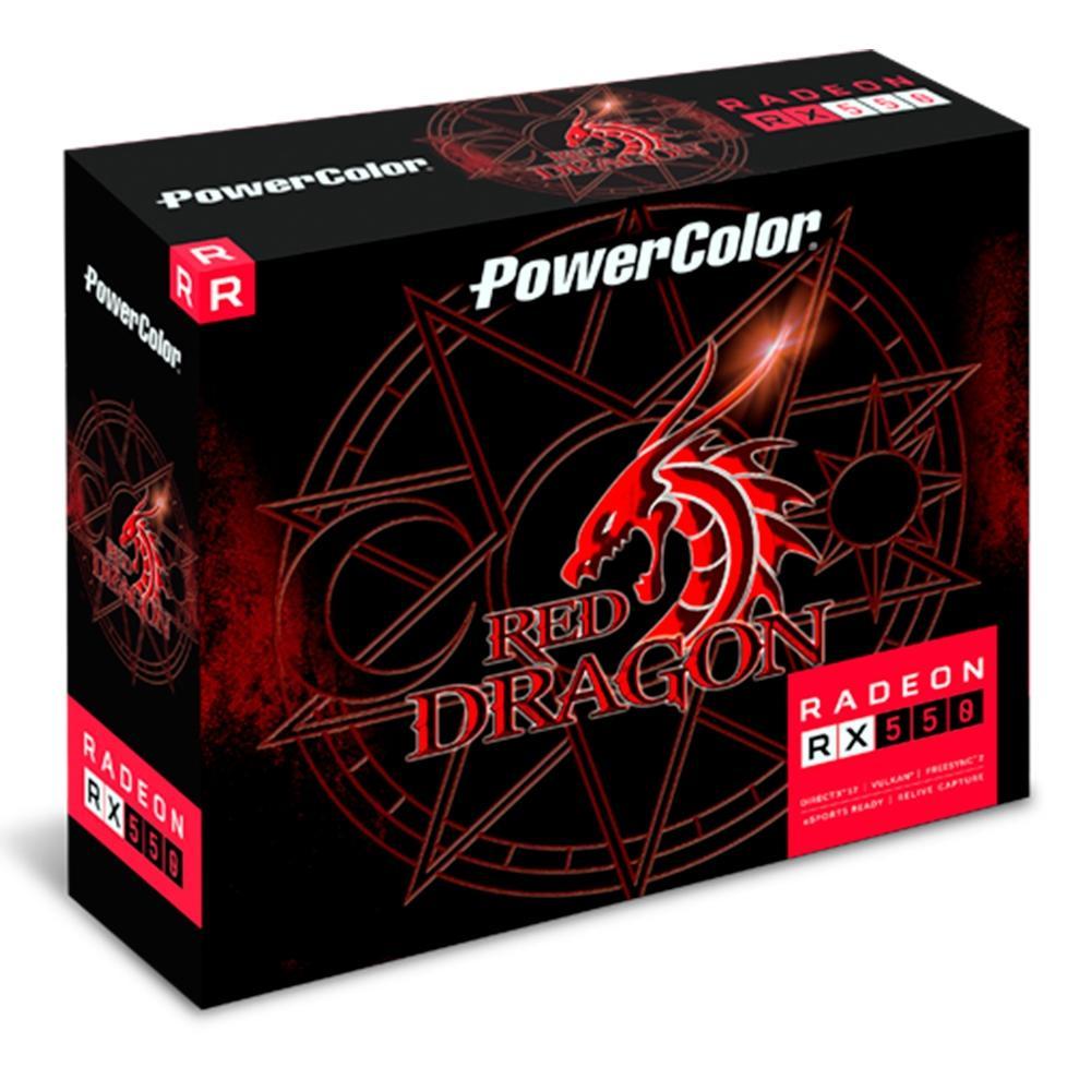 PLACA DE VIDEO RADEON RX 550 4GB GDDR5 AXRX 550 4GBD5-DH POWER COLOR