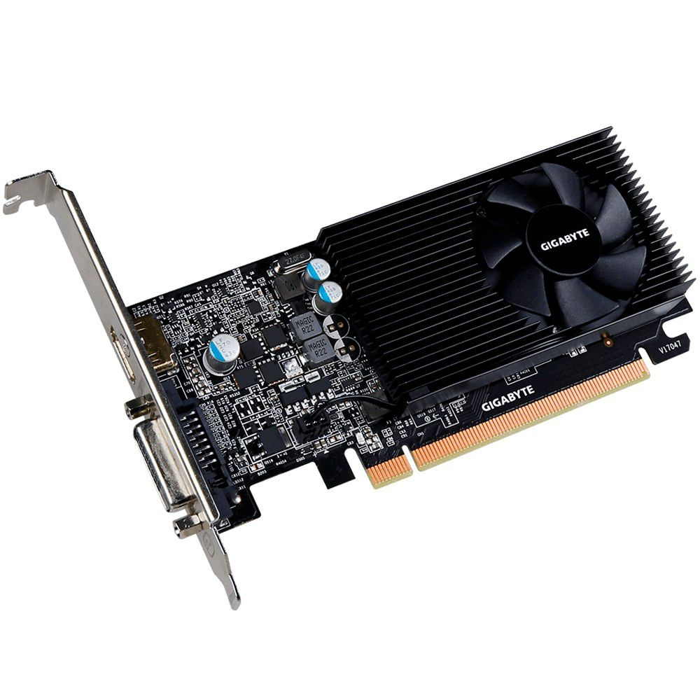Placa de Vídeo VGA NVIDIA GIGABYTE GEFORCE GT 1030 2GB GDDR5 Low Profile GV-N1030D5-2GL