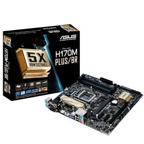 Placa Mãe 1151 Intel Asus H170M-PLUS/BR DDR4 90MB0QQ0-C1BAY0